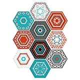 Fenteer 10 Stück Bodenfliesen Hexagon Boden Fliesen Zementfliesen - # 5