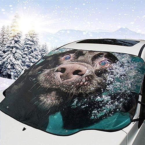 Hiram Cotton Car Sunshade Lustiger Hund Tauchen Auto Windschutzscheibe Abdeckung Schnee Schild EIS Entfernung Wischer Visier Schutz Allwetter Auto Sonnenschutz Für Autos LKW SUV