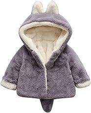 Giacca del mantello del cappotto di inverno Rawdah della pelliccia della neonata vestiti caldi spessi Baby Girl Warm Coat