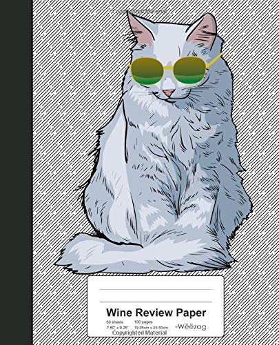 Wine Review Paper: Book Turkish Angora Cat (Weezag Wine Review Paper Notebook, Band 276) -