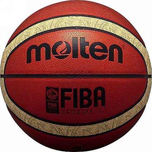 Onlysportsgear Molten B6t5000 33 Libertria Basketball, aus PU-Leder, offizielles Match mit 12 Paneelen