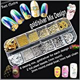 Set Nail Art Metall Plating