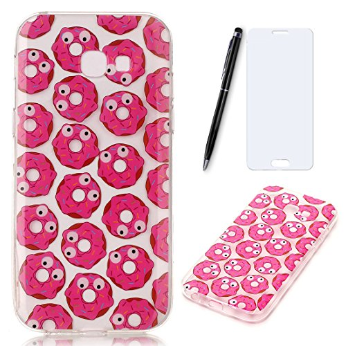 Lotuslnn iPhone 7 Plus Conque- Anti-Scratch Protection Etui Pour iPhone 7 Plus TPU Silicone Soft Cover ( Coque, Stylus Pen ,Screen Protector )-Donuts Donuts