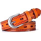 MRACSIY Womens Belt Women Pin Buckle Belt Ladies Leather Belt in Sizes (L)115cm x (W)2.8cm
