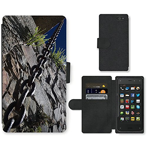 PU Cuir Flip Etui Portefeuille Coque Case Cover véritable Leather Housse Couvrir Couverture Fermeture Magnetique Silicone Support Carte Slots Protection Shell // M00156857 Cadenas de Colonia Uruguay piedra vieja // Amazon Fire Phone