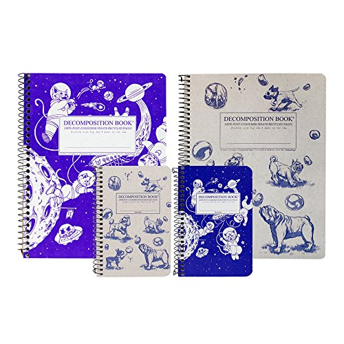 Michael Roger Press Decomposition Cats & Dogs Bundle, Two Designs: Kittens in Space & Dogs and Bubbles, Includes Two 4 by 6 Inch and Two 7.5 by 9.5 Inch Wirebound Notebooks, Made in The USA (Studenten Für Laptop-bundle)