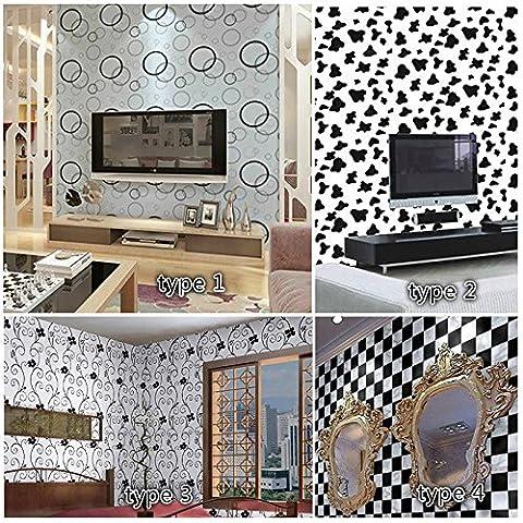 papier peint à carreaux salle de bain étanche porte rénovation de meubles stickers auto-adhésif papier pvc , type 4