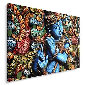 Feeby Frames, Cuadro en lienzo, Cuadro impresión, Cuadro decoración, Canvas de una pieza, ESTATUA BUDA, ZEN, INDIA, ORIENTE, MULTICOLOR 3