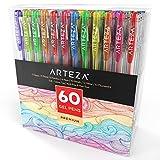 Arteza Gelstifte — Gelroller in 60 Verschiedenen Farben — Hochwertige Gelschreiber mit 0.8-1.0 mm Stiftspitze