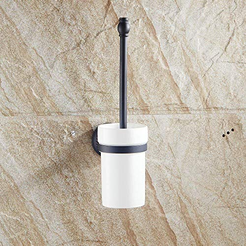 ZHYF Toilettenbürste und Halter Set Wandhalterung Messing, gebürstet Bronze Finish -