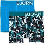 Björn Borg Herren Boxershorts 2P Shorts Bb Summer Palm, Weiß (Brilliant White 00071),Medium