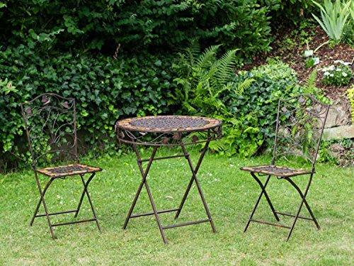 Mesa y 2 sillas de hierro forjado de hierro muebles segunda mano  Se entrega en toda España