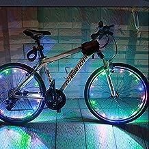 Xcellent Global Luz LED Colorida Aro Rin Rueda Ciclismo Bici Bicicleta Resistente Agua, 2 pzas para 2 Ruedas FS033x2