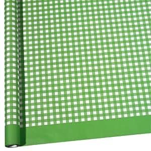 Susy Card 11204286 Rouleau de nappe à carreaux en papier 1,20 x 7 m (Vert/blanc)
