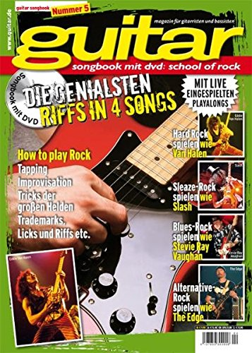 guitar School of Rock Vol. 5: Songbook mit DVD Stil Voller Rock