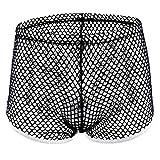 OSYARD Männer Sexy Dessous Unterwäsche Herren Transparente Slips G-Strings Tanga Erotik Reizwäsche Unterhosen Mesh Netz Boxershorts Bikini Unterwäsche Atmungsaktiv Höschen Hipsters Retroshorts