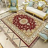 RENYAYA Retro-Muster-Teppich traditionellen Blumenteppich Nachttischlei Garderobe Küche Esszimmer Teppich Baby-Crawling Matte,05,160×200cm