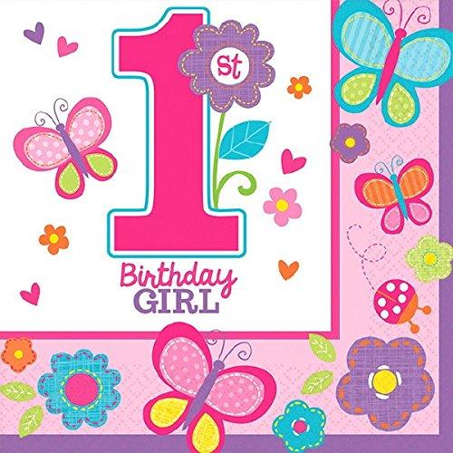 (Sweet 1st Birthday Girl Servietten (36Stück))