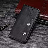 Happy-L Hülle Für Vodafone Smart Platinum 7, echte Qualität Business-Retro-Stil PU Leder Brieftasche Fall (Farbe : Schwarz)