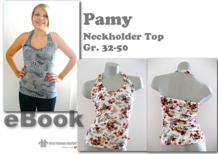Produktbild Pamy Nähanleitung mit Schnittmuster für T-Shirt Top Tunika Neckholder Shirt [Download]