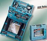 Makita Zubehöraktion Bohrer/Bitset 200 Teile