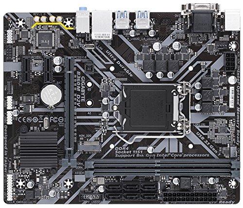 Gigabyte b360m, Gigabyte b360m, Sockel 1151/H370/DDR4/S-ATA Motherboard–Schwarz (Gigabyte Intel Matx Motherboard)