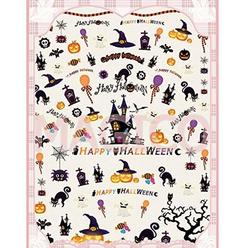 Born Pretty 1 Plaque 3D Sticker Halloween Citrouille Nail Nail Art