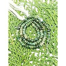 Prime vendita su Amazon Powered by gioiello perline per 1filo naturale smeraldo 3–4mm rondelle liscio perline lungo 35,6cm.