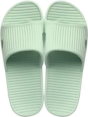 JoWebb Unisex Slip On Slippers for Women/Men Non-Slip Light Weight Flat Slide Sandals Shower Sandals House Soft Flip Flop Shoes for Indoor Home Garden Bathroom Poolside