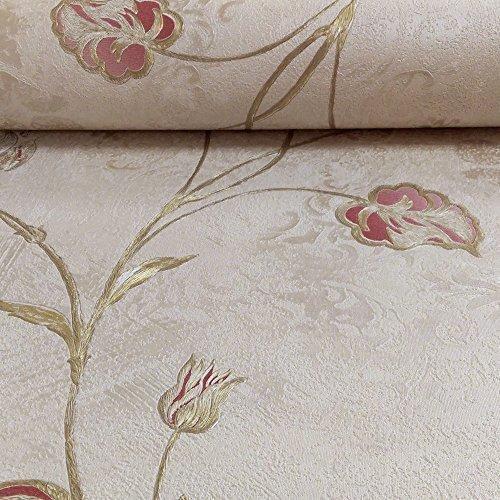 holden-daccor-rosalea-flower-floral-pattern-metallic-textured-vinyl-wallpaper-red-beige-35203-by-hol