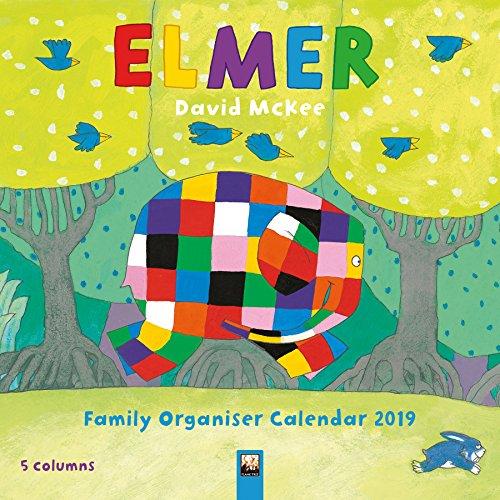 Elmer Family Organiser - Elmar Familienplaner 2019: Original Flame Tree Publishing-Kalender (Wall...