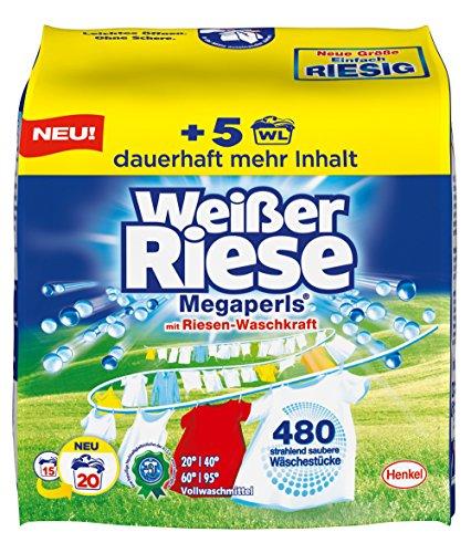 Weißer Riese Megaperls, 5er Pack (5 x 20 Waschladungen)