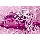 Vlies Fototapete PREMIUM PLUS Wand Foto Tapete Wand Bild Vliestapete - Ornamente Blume Pusteblume Schmetterling Linien - no. 2056, Größe:368x254cm Vlies