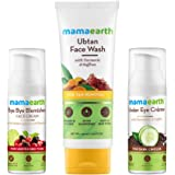 Mamaearth Complete Skin Glow Kit (Pigmentation & Blemish Removal Face Cream 30ml + Ubtan Face Wash for Dry Skin 100ml + Under