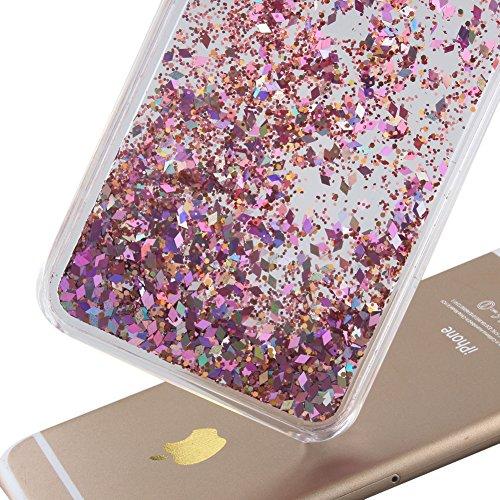 Coque Pour Iphone 7 4.7 Pouce, SKYXD Fluide Liquide Coque Ultra Slim SOUPLE Étoiles Étui Housse Bling Glitter Sparkles Coque Liquid Crystal Premium Back Case Transparente Coque Pour Iphone 7 4.7 Pouce Color#10