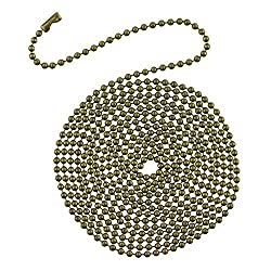 Westinghouse 7710900 12 Beaded Chain with Connector and Antique Brass Finish