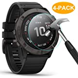 CAVN Tempered Glass Compatible with Garmin Fenix 6X / Fenix 6X Pro Screen Protector [Pack of 4] Waterproof Glass…