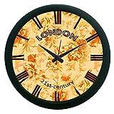 meSleep London Brown Wall Clock (With Gl...