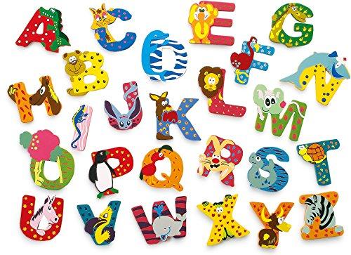 INDIGOS UG - Holzbuchstabe - O - für Kinder und Babys - Motiv Tiere für das Kinderzimmer, Schule, Kindergarten, zum Spielen, Basteln und Sammeln