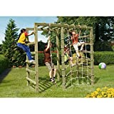 Gartenpirat Klettergerüst Spielgerüst aus Holz für den Garten mit Reck und Kletternetz von Gartenpirat®