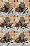 6 Kettler Klappstühle Lille Comfort 0310118-7020 Klappstühle Anthrazit/Taupe Aluminium/Outdoorgewebe L/B/H ca. 58/50/87 cm