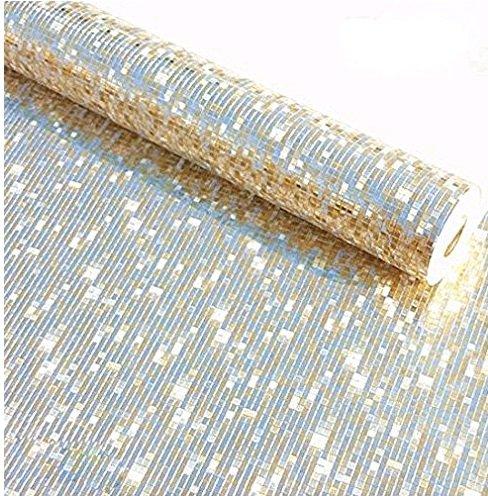 Mosaik Luxus Glitzer Tapete Hintergrund Wand glänzend gold Folie Tapete silber Deckenleuchte...