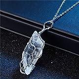 Moda Collares De Plata Piedra De Prisión Hecho A Mano Arco Iris Piedra Colgante Collar para Mujeres Hombres Cadena Larga Declaración Joyería Regalo