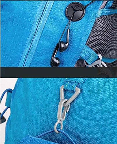 HWLXBB Outdoor Zaino Sport alpinismo sacchetto degli uomini all'aperto e Donne Viaggi impermeabile borsa a spalla esterna dello zaino 40L zaino ( Colore : Rosso ) Rosso