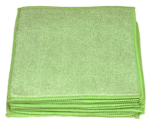 Sonty 10 Stück Schwammtücher XL, Spültücher Microfaser 23 x 23 cm (grün) - Grüne Waschlappen