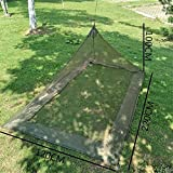 bloomma Single Camping Bett Moskitonetz Mückennetz, Falten Mückenschutz Polyester und Low Elastizität mit Aufbewahrungstasche für Garten Outdoor Balkon, Reisen, Wandern