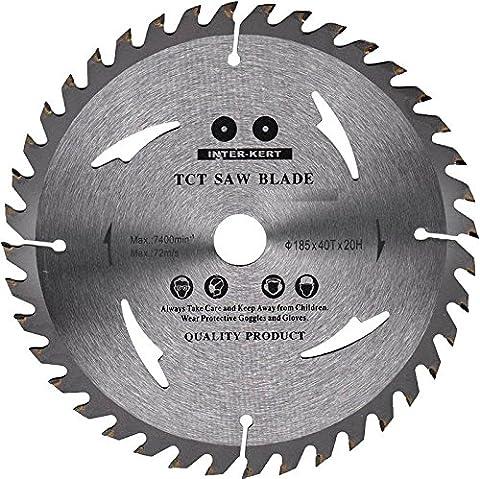 Top Quality Circular Saw Blade (Skill Saw) 185mm for Wood Cutting discs Circular 185mm x 20mm x 40 Teeth