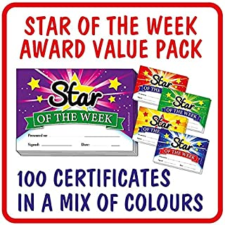 Star of The Week School Reward Certificates A5 x 100 - Primary Teaching Services