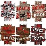 JoyTplay 6Pezzi Decorazioni di Halloween Fuori segni di Cantiere Spaventoso Attenzione alle Decorazioni all'aperto Zombi Vampire Graves Forniture per Feste