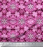 Soimoi Rosa Seide Stoff Mosaik- tie-Farbstoff Stoff drucken